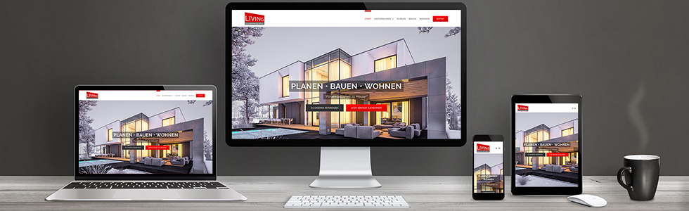 Wordpress-Homepage für LIVING Baumanagement GmbH