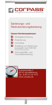Rollup-Display fuer Corpass GmbH