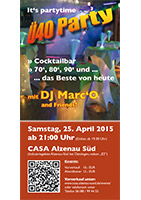 CASA Konferenzcenter Ue40-Party / Flyer im Format DIN-lang