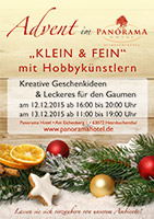 Advent im PANORAMA Hotel / Flyer im Format DIN-A5